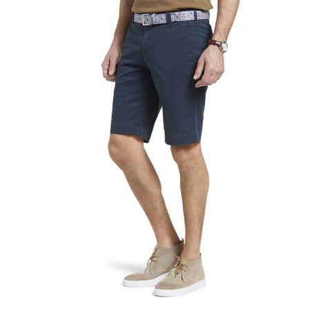 Meyer B-Palma Pima Cotton Bermuda Shorts Navy