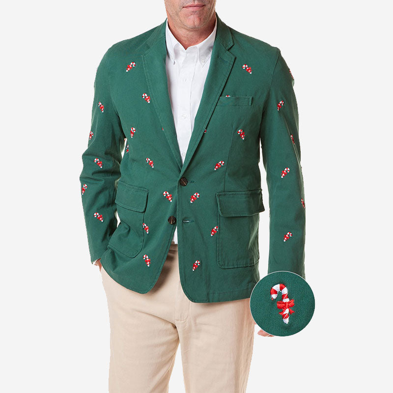 Castaway Spinnaker Blazer Hunter with Candy Cane