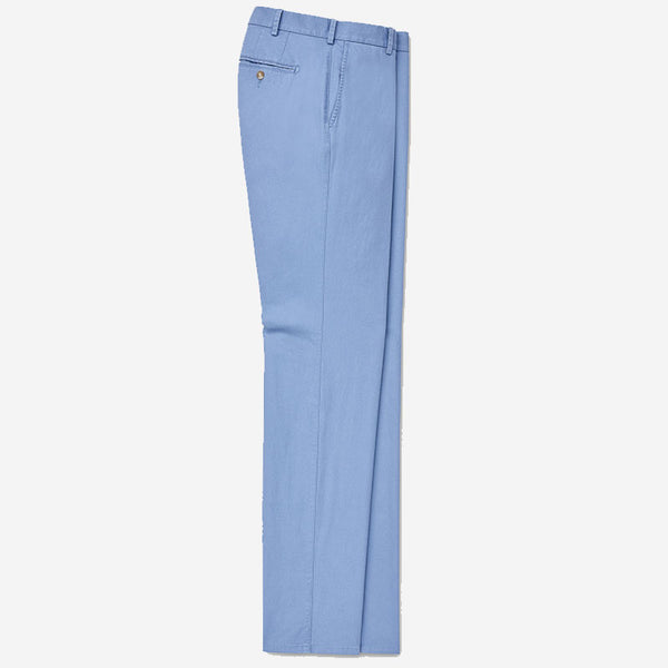 Peter Millar Soft Touch Twill Flat-Front Pant Blue Coast