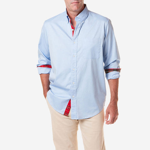 Castaway Chase Shirt Blue with Royal Stewart Trim