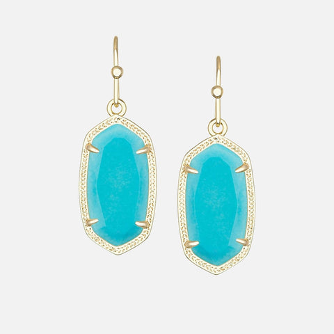 Kendra Scott Dani Gold Earrings In Turquoise