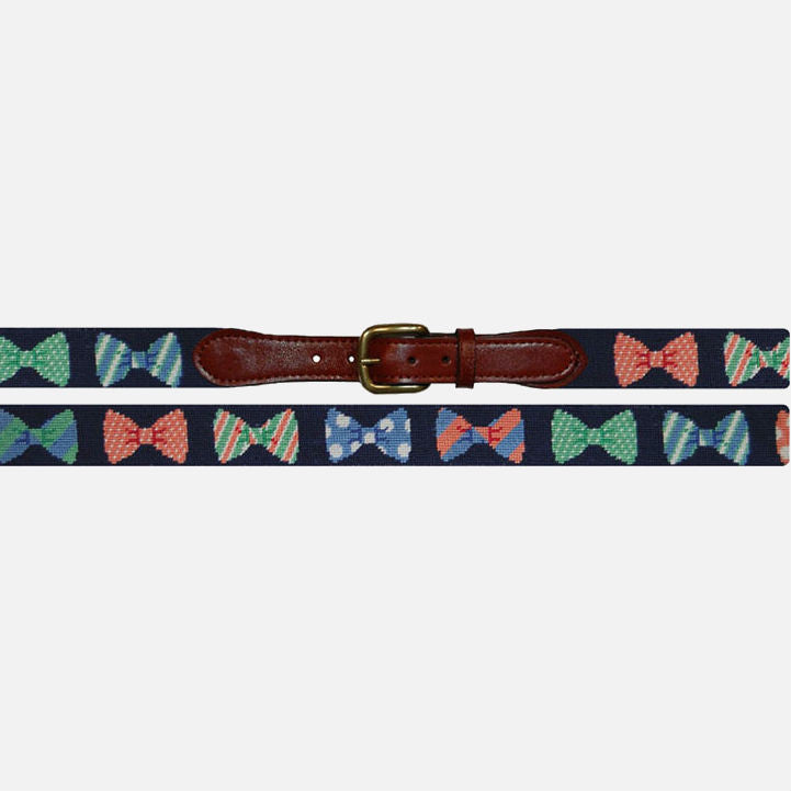 Smathers & Branson Bow Ties Needlepoint Belt