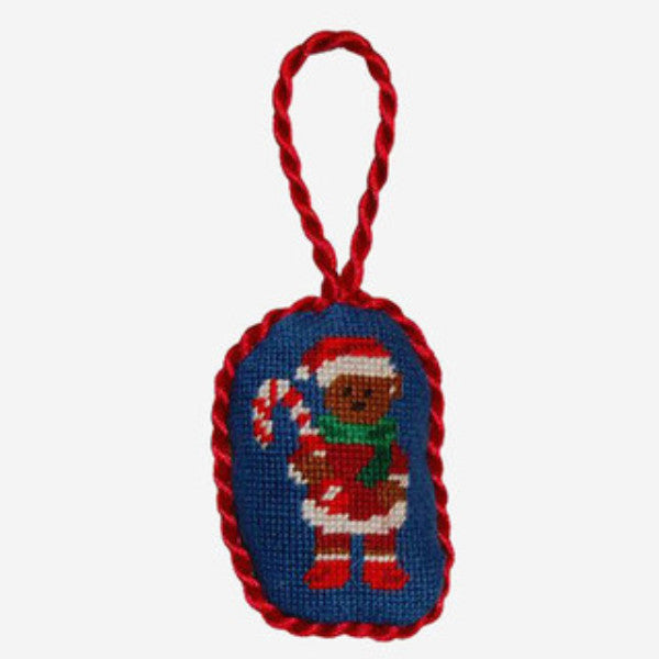 Smathers & Branson Santa Bear Needlepoint Ornament