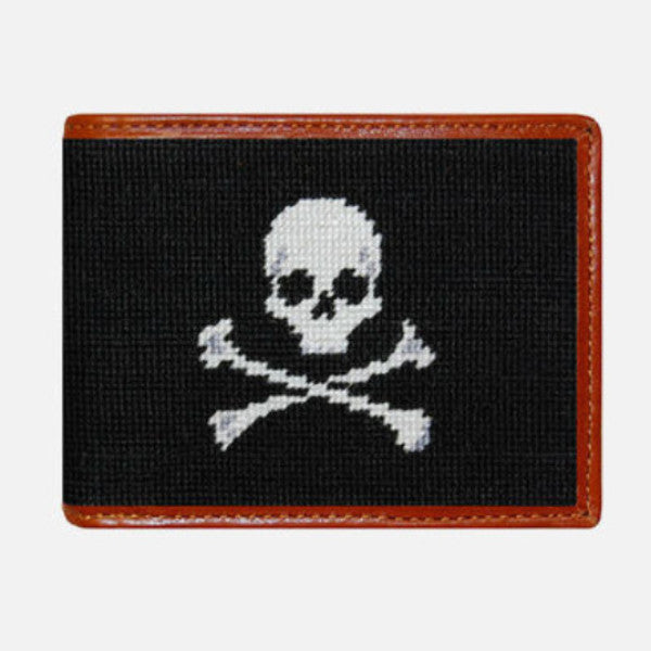 Smathers & Branson Jolly Roger Needlepoint Bifold Wallet