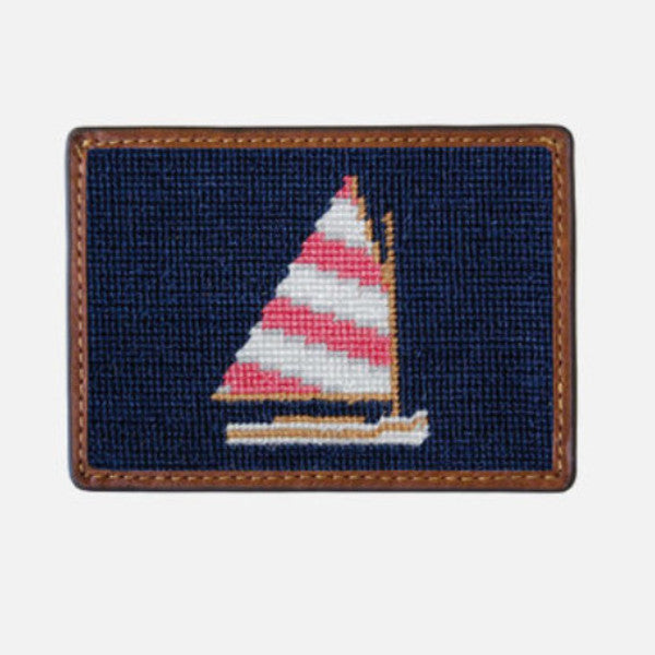 Smathers & Branson Rainbow Fleet Needlepoint Card Wallet