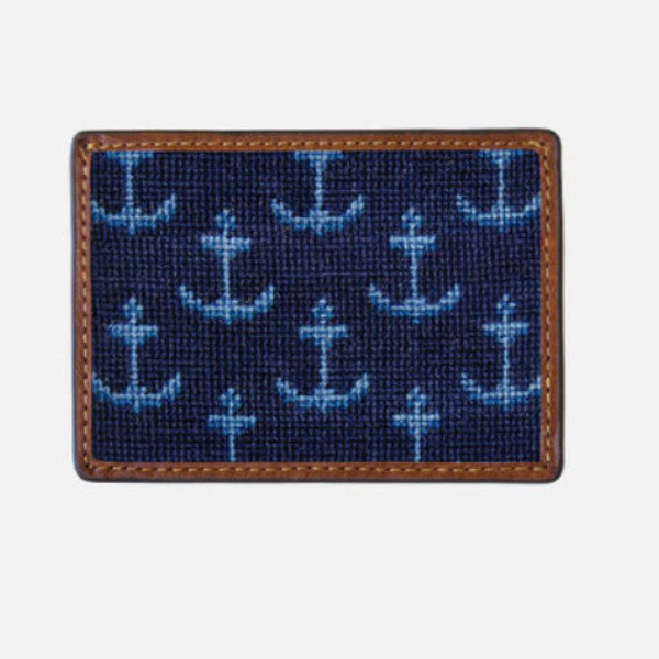 Smathers & Branson Ships Anchors Needlepoint Card Wallet