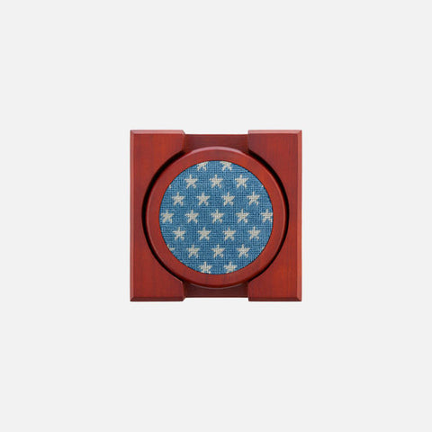 Smathers & Branson Stars and Stripes Needlepoint Coaster Set