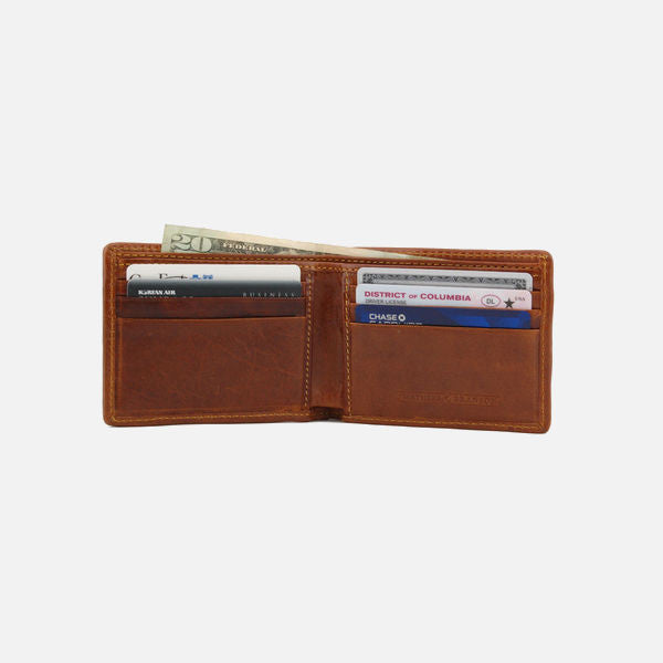 Smathers & Branson Bonefish (Stream Blue) Needlepoint Bifold Wallet