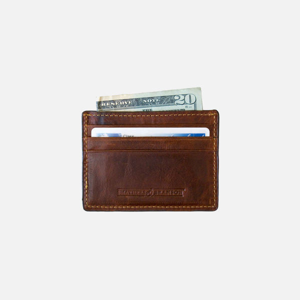 Smathers & Branson Bonefish (Stream Blue) Needlepoint Card Wallet