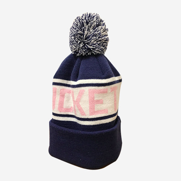 Richardson Nantucket Knit Beanie with Cuff - Navy/Pink