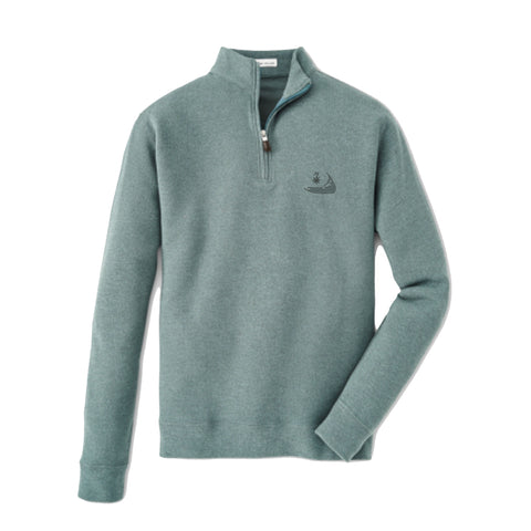 Peter Millar Tri-Blend Mélange Fleece Quarter-Zip Lacinato