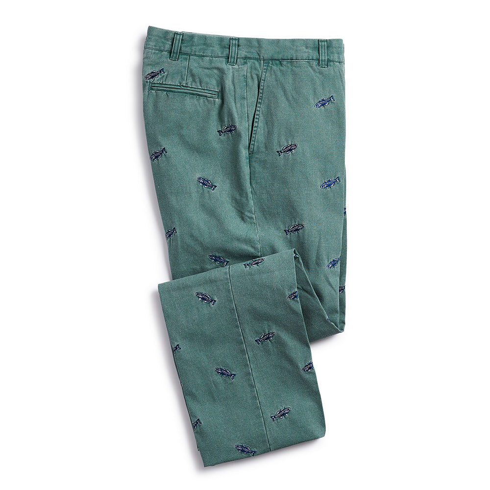Nantucket Reds Collection™ Men's Embroidered Whale Pants Green