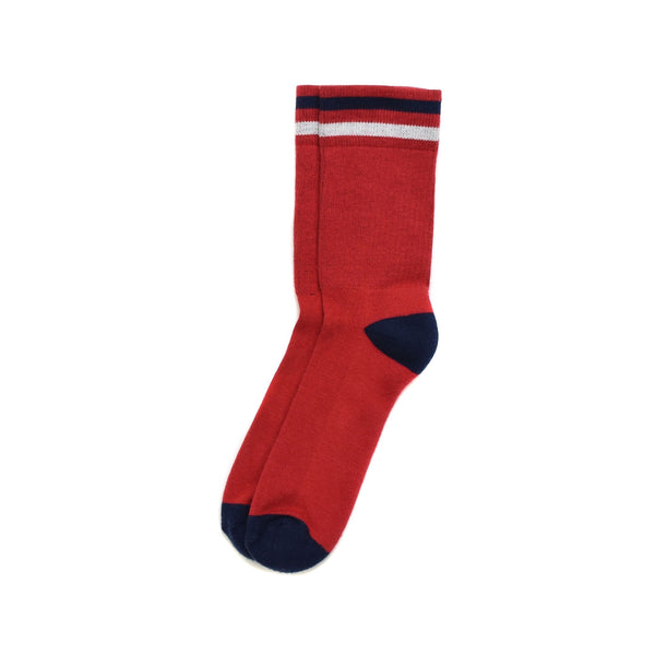 American Trench Kennedy Luxe Athletic Socks Red
