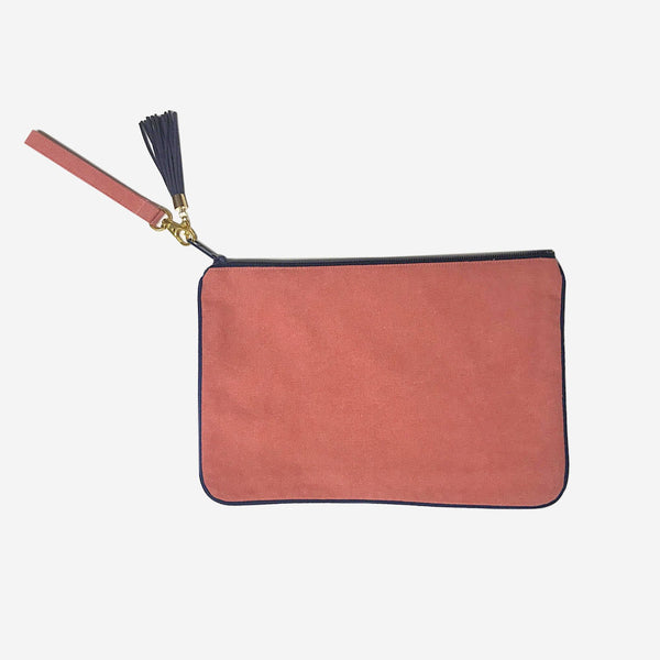 Nantucket Reds Collection™ Custom Clutch Navy Piping Wristlet Strap