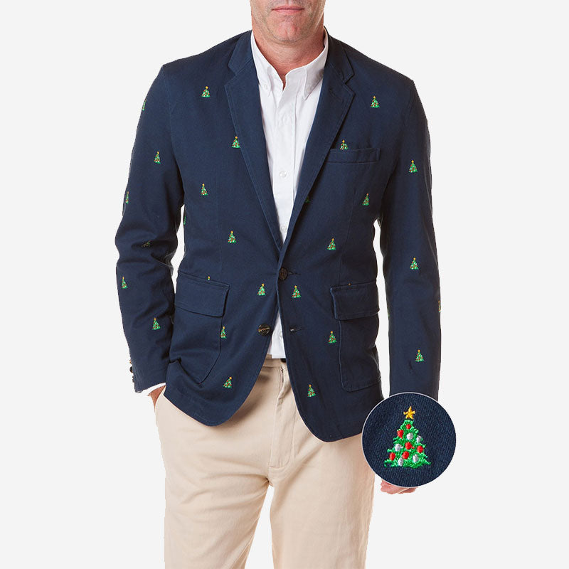 Castaway Spinnaker Blazer Navy with Xmas Tree