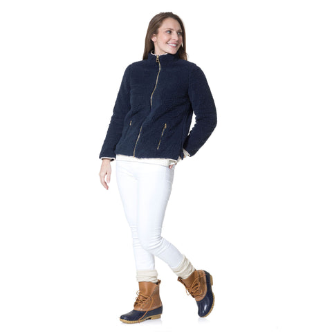 Sail to Sable Sherpa Zip Up Jacket
