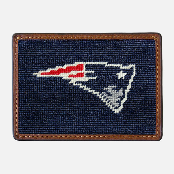Smathers & Branson New England Patriots Needlepoint Card Wallet