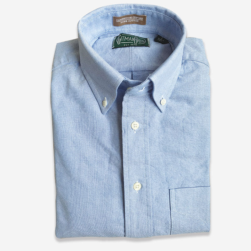Gitman Bros Button Down Oxford Blue