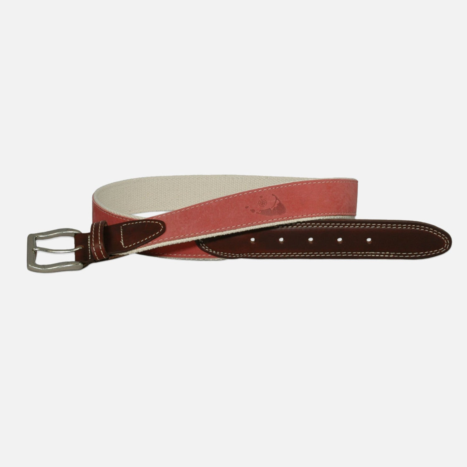 YRI Men's Embossed Nubuck Belt - Nantucket Red
