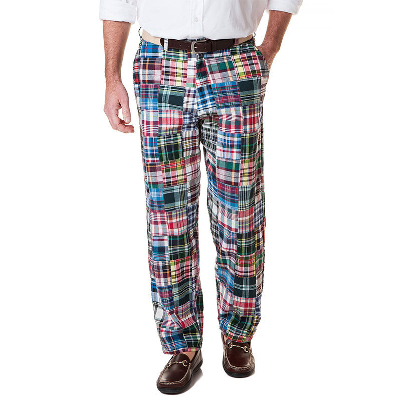 Castaway Harbor Pants Lincoln Patch Madras