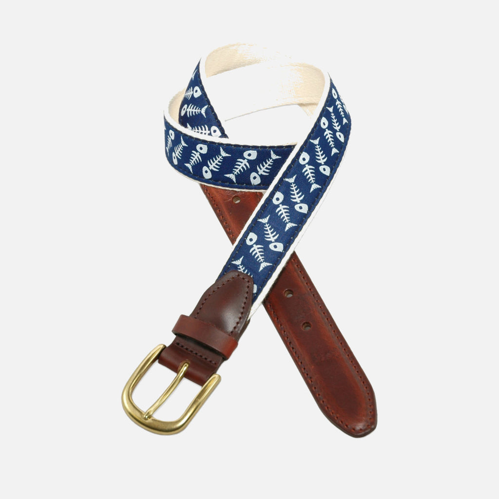YRI Men's Ribbon Belt - Fish Bone