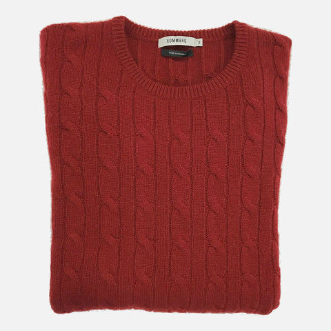 Hommard The Cable Sweater - Red