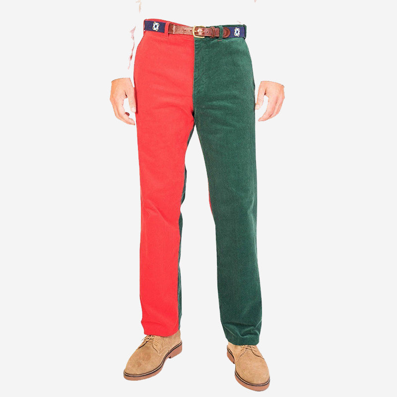Castaway Beachcomber Corduroy Pant - Hunter and Crimson Panel