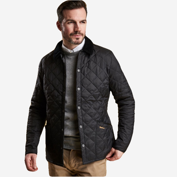 9fb9fcab7452 Barbour Heritage Liddesdale Quilted Jacket - Black – Murray s ...