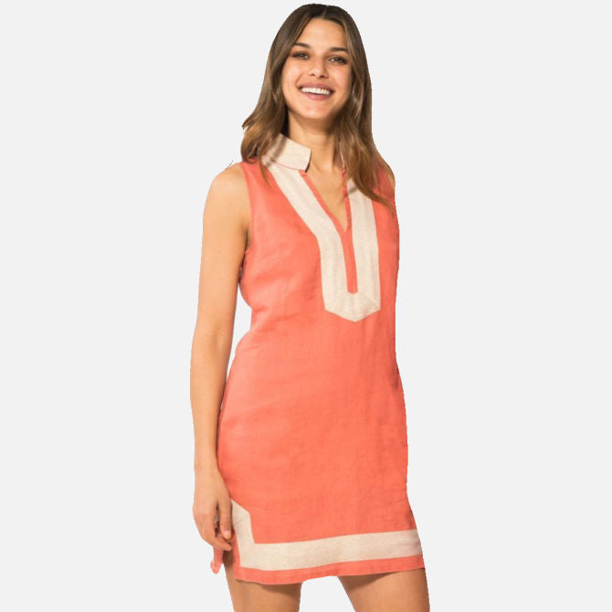 Sail To Sable The Classic Sleeveless Tunic Dress - Nantucket Red