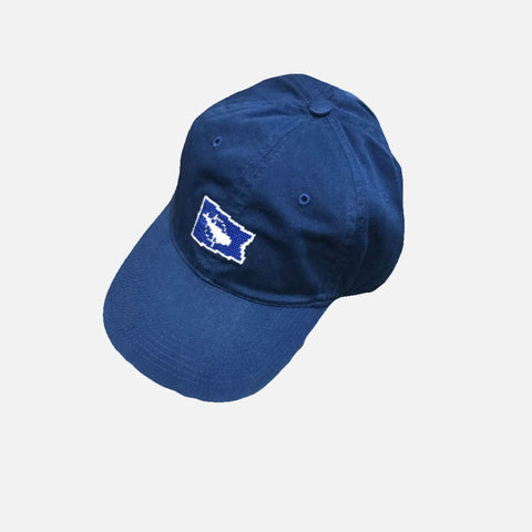 Smathers & Branson Nantucket Burgee Needlepoint Hat - Navy