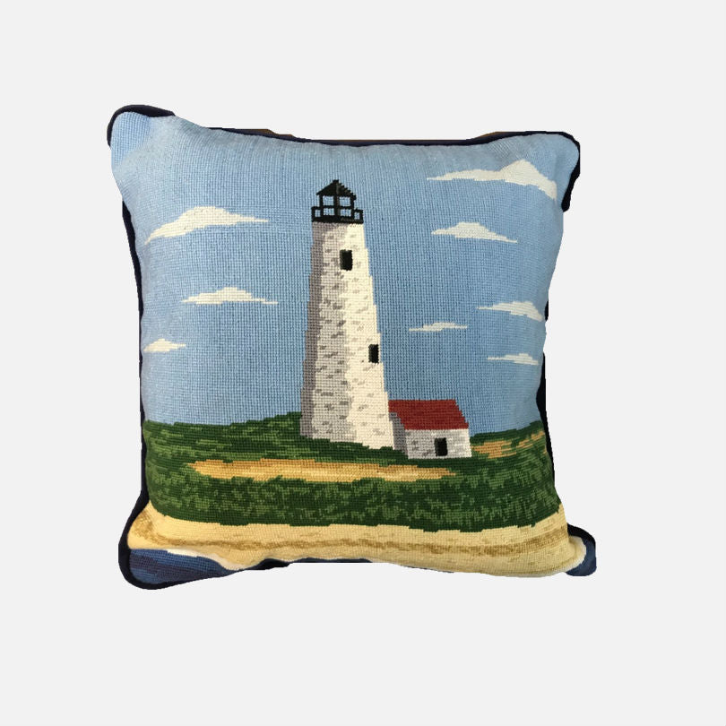 Smathers & Branson Great Point Lighthouse Needlepoint Pillow