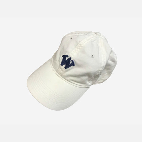 Smathers & Branson Whalers Needlepoint Hat - White