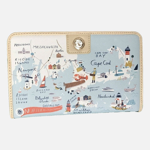 Spartina 449 Map Snap Wallet - Northeastern Harbors