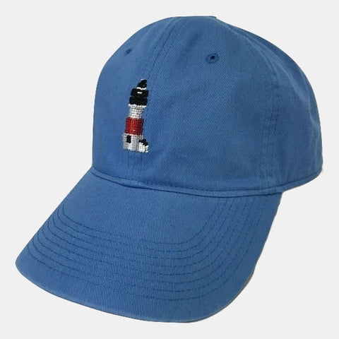 Smathers & Branson Sankaty Lighthouse Needlepoint Hat - Royal