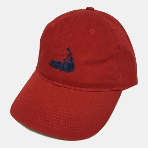 Smathers & Branson Nantucket Island Needlepoint Hat - Red