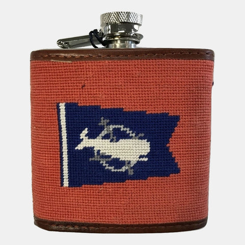 Smathers & Branson Nantucket Burgee Needlepoint Flask