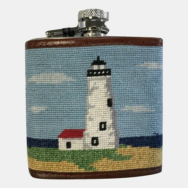 Smathers & Branson Great Point Needlepoint Flask