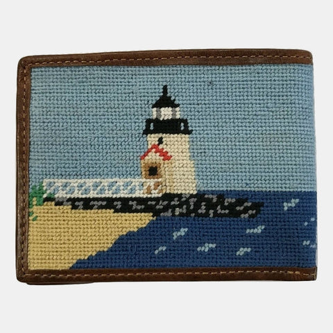 Smathers & Branson Brant Point Rainbow Fleet Scene Needlepoint Bifold Wallet