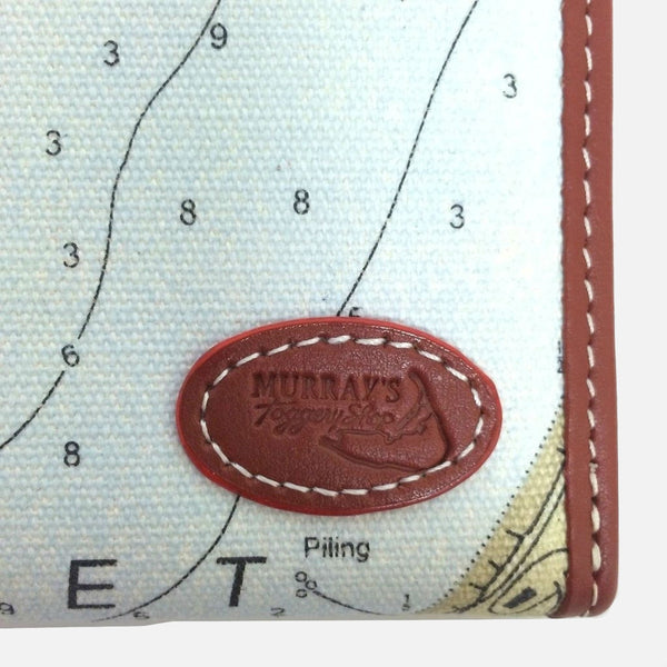 Nantucket Harbor Nautical Chart Wallet