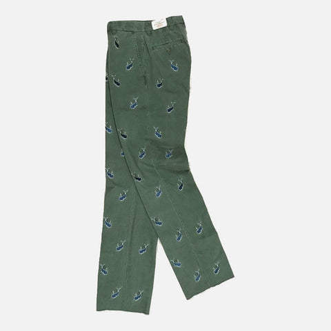 Nantucket Reds Collection™ Men's Embroidered Whale Pants - Green