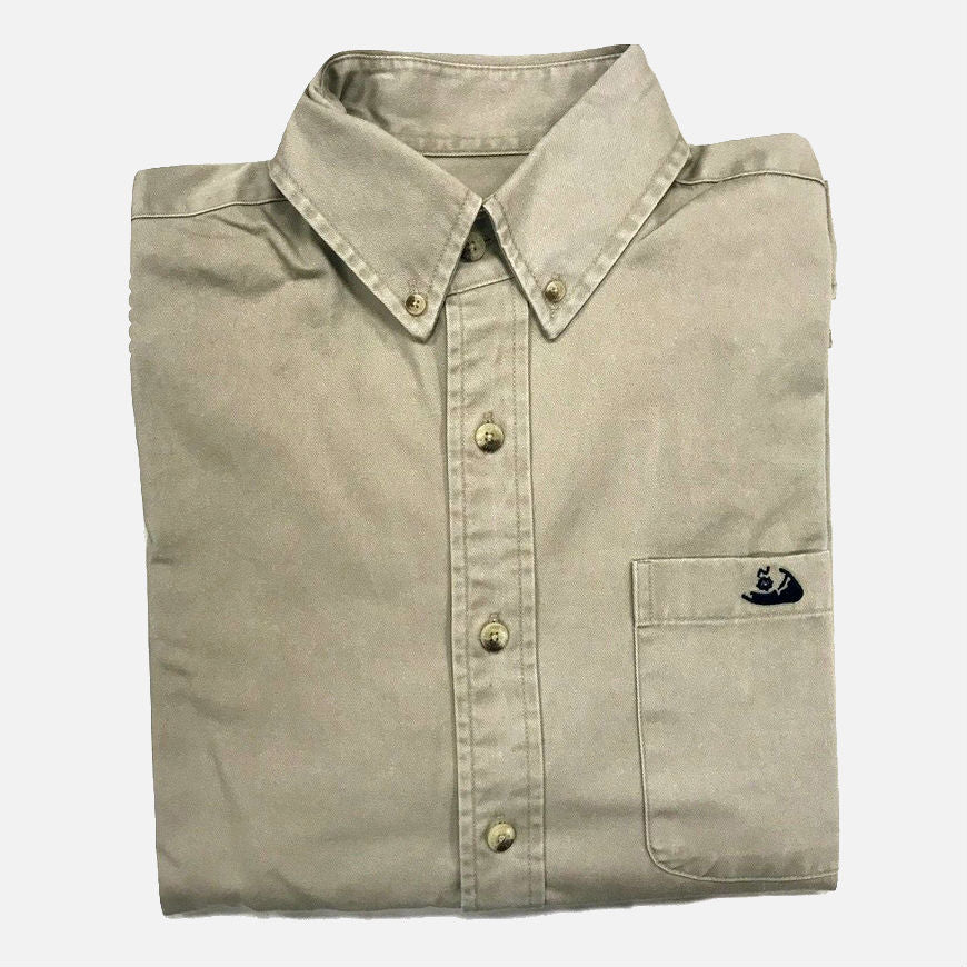 Nantucket Reds Collection™ Long Sleeve Button Down - Khaki