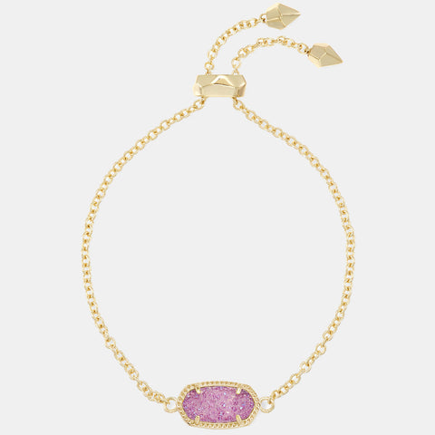 Kendra Scott Elaina Adjustable Chain Bracelet In Violet Drusy