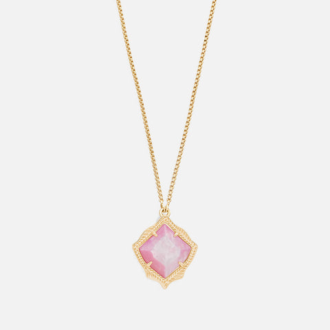 Kendra Scott Kacey Long Pendant Necklace In Blush Pearl