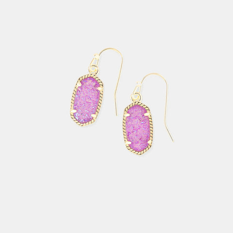 Kendra Scott Lee Drop Earrings In Violet Drusy