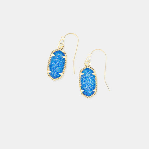 Kendra Scott Lee Drop Earrings In Cobalt Drusy