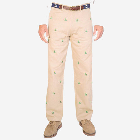Castaway Mariner Pant - British Khaki with Christmas Tree