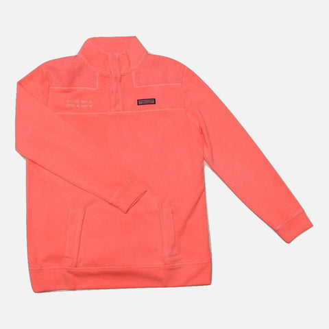 Vineyard Vines Ladies Garment Dyed Seersucker Nantucket Coordinates Relaxed Shep Shirt - Coral Sand