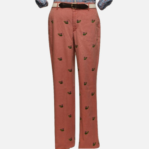 d22a557b Nantucket Reds™ M Crest Collection Men's Straight Fit Embroidered Green  Whale Pants