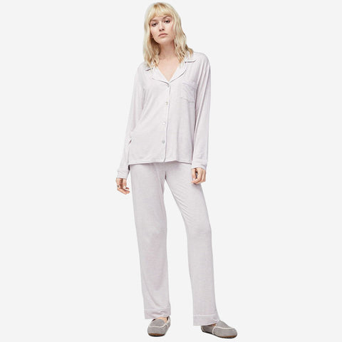 UGG Women's Lenon PJ Set - Lavender Fog Heather