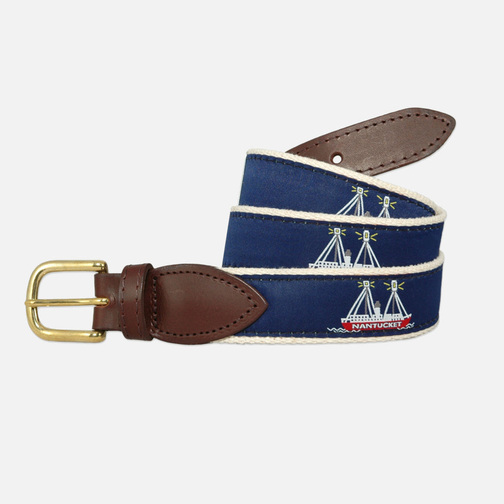 YRI Men's Ribbon Belt - Nantucket Lightship